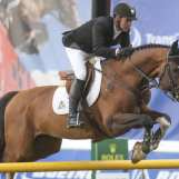 Aryn Toombs/Calgary Herald CALGARY, AB -- June 3, 2015 -- Eric Lamaze riding Coco Bongo vies for the $34,000 Bantrel Cup in the International Ring at Spruce Meadows in Calgary on Wednesday, June 3, 2015. (Aryn Toombs/Calgary Herald) (For Sports story by TBA) 00065806A SLUG: 0603 Spruce Meadows National